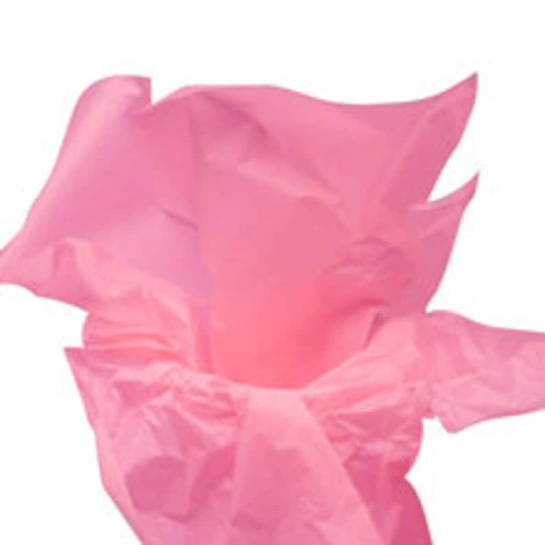 100 pack of Dark Pink Premium Colored Tissue Paper 15 x 20