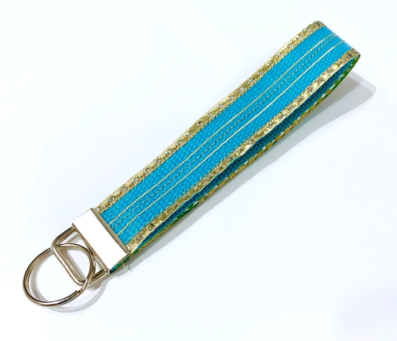 RILEY BLUE  KEY RING  FOB