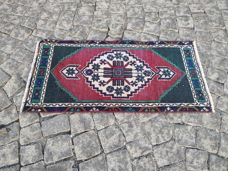 boho rug Door Mat Rug 1.5x3 ft,small turkish rug,vintage oushak rug,small runner rug,bathroom rug,hand woven rug,indoor rug,pink rug runner