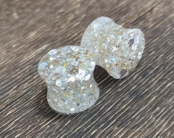 0G 00G 12 916 58 34 78 1 PICK SIZE Golden Galaxy Girly Ear Guages Dangle Plugs wedding