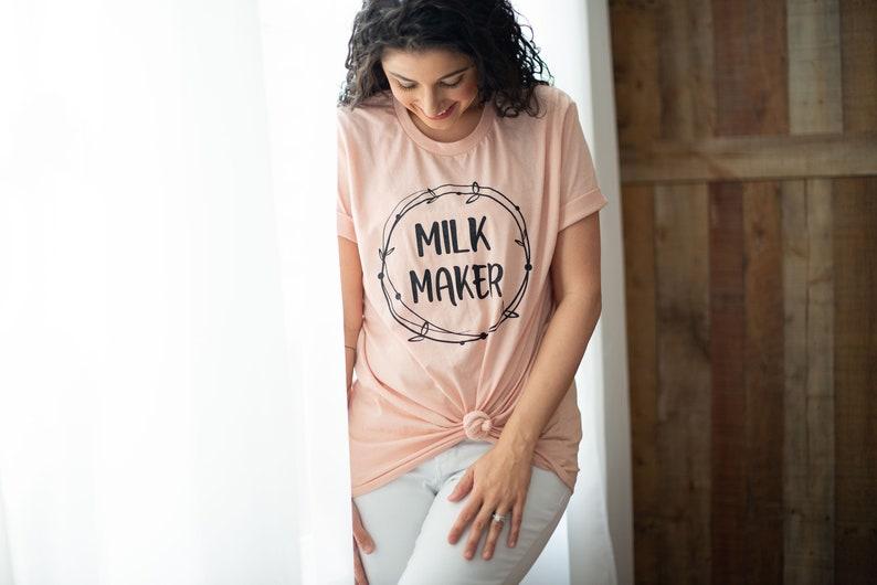 468fcd3bd99a0 Milk Maker breastfeeding nursing shirt mom shirt   Etsy