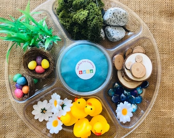 5 Little Ducks Play Tray | Montessori | Loose Parts | Open Ended Play