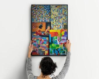 Large Wall Art, Abstract Art, Modern Art Canvas, Wall Art Prints, Metal Wall Art, Gift For Her, Wall Art Canvas, Original Art, Home Decor