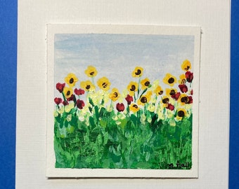 2021 Wildflower Birthday Card - Original Art Notecards (sets of 3), stationery