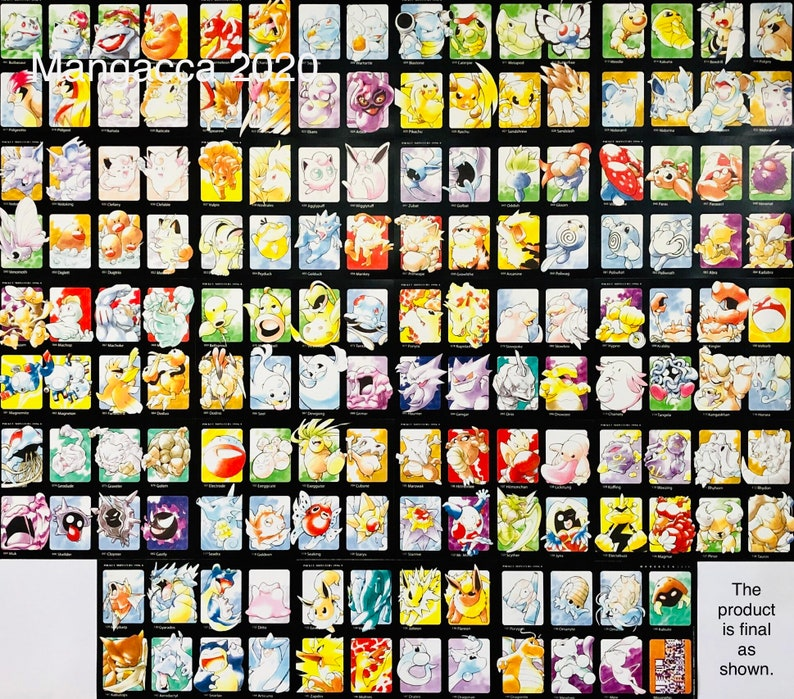 POKÉMON 151 with MISSINGNO Ultimate Poster Set of 19 Pieces image 0