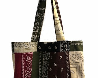 Create Your Own Patch Bandana Tote Bag
