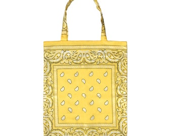 Mellow Yellow Bandana Tote Bag