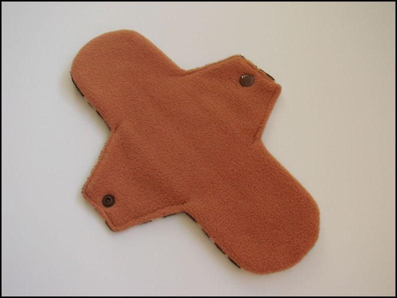 Reusable Cloth Menstrual Pad Giraffe Size 2 10 Medium Flow Minky Cloth Pad