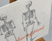 Halloween Letterpress Postcard