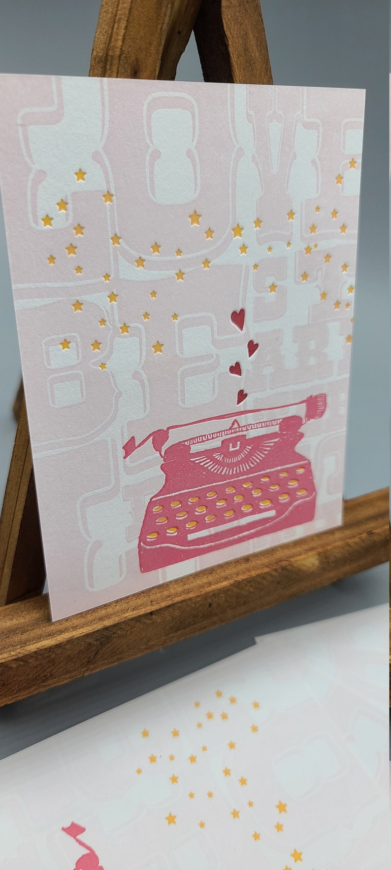 Set of Six Type Love Letterpress Postcards