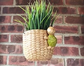 Hanging planter, adorable turtle planter