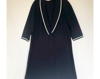1488fe00 1960s Amy Adams dress, navy and white sailors dress