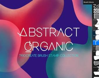 Procreate Abstract Organic Brush Set- from Modern to Mid-century Modern