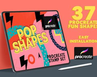 Procreate Pop Shapes Brushset