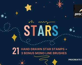 Oh My Stars Procreate Stamp Brushes