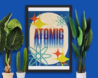 Atomic Poster| Wall Art | Modern Art