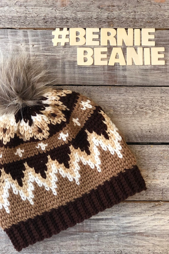The Bernie Beanie Crochet Hat Pattern Inspired by Inauguration