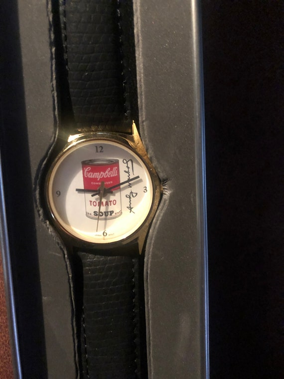 Swatch watch Andy Warhol Campbell's soup