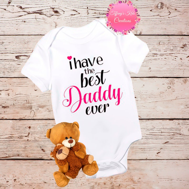 Dad Onesie First Father/'s Day Onesie\u00ae I Love Daddy Onesie Daddy/'s Little Lady Daddy/'s Little Girl Daddy Baby Clothes Daddy Day Onesie\u00ae