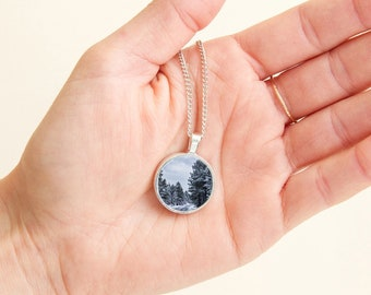 Winter Snow Forest Necklace - Pine Trees in the Grand Canyon - Winter in Grand Canyon - Fine Art Photography - National Parks