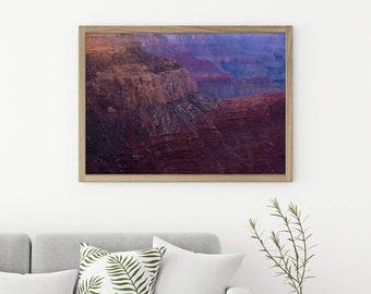 Chromatic Ridges - Grand Canyon at Sunset - Fine Art Photography - National Parks Photography - Photographic Print