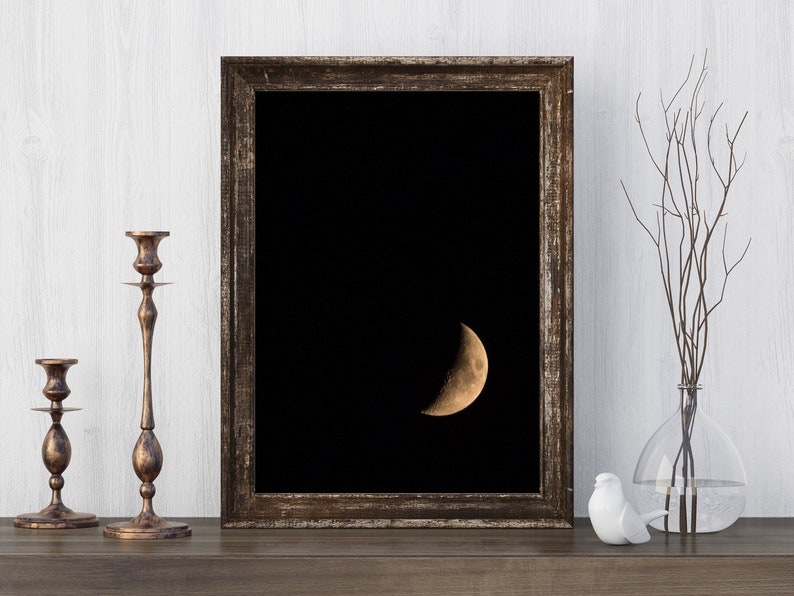 Waning Crescent  Moon Phases  Space Night Sky Photography  image 0