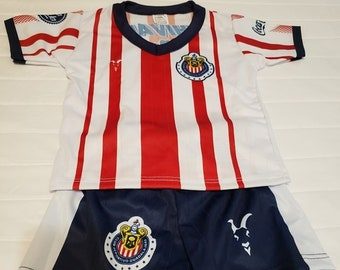 29685bcda2c 2019 Chivas de Guadalajara customized baby jersey and shorts