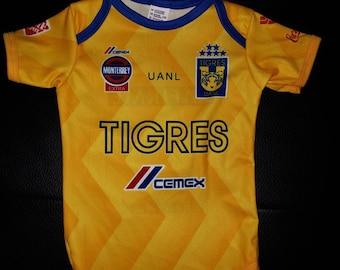 9d70715969a Tigres De La UANL customized baby onesie bodysuit
