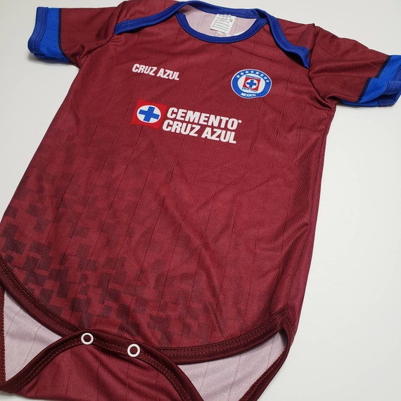 Cruz Azul Baby Jersey blue//White futbol pañalero bebe mameluco