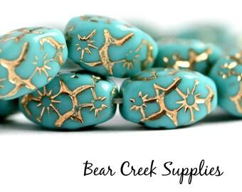 Large Turquoise Patina Bead Mix Box