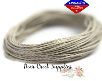 Cafe Royale Cord for Leatherwork Linhasita 879 Waxed Cord 20 meters Knotting String Waxed Cord 0.5mm Macrame Jewelry Thread