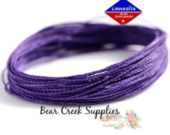 10 meters wire macrame 369 Linhasita bright purple