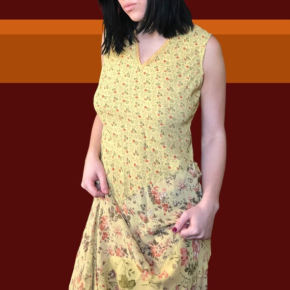 1980s Vintage April Cornell Floral Dress