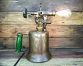 Antique - Vintage Industrial Brass Blow Torch Reclaimed Into A Very Cool Ambient Lighting Steampunk Style Table Lamp