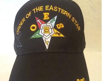 Order of The Eastern Star HAT // CAP Masonic//Freemason RED OES