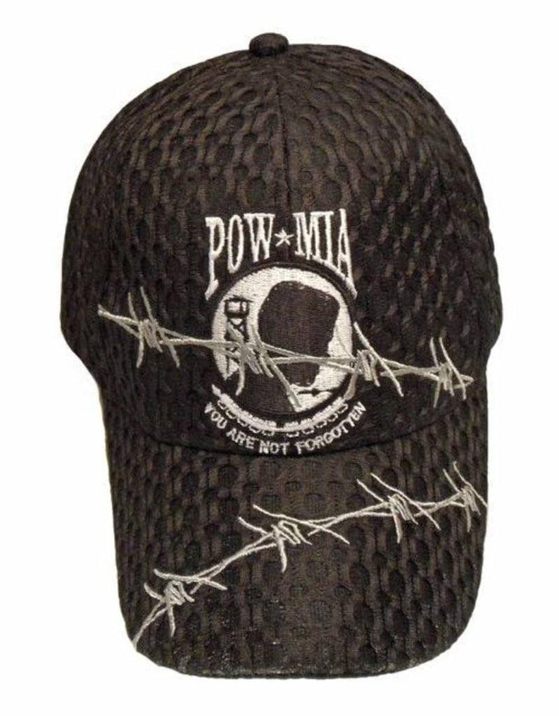 CapHat POW MIA Barbwire Cool summer mesh
