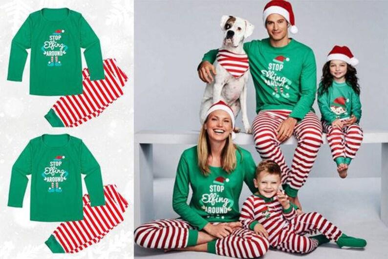 eddf855828 Elf Christmas Family Pajamas