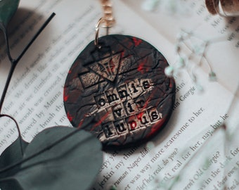Red Rising Inspired Clay Keychains.