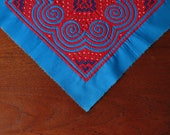 Hmong Reverse Applique Art Textile Quilting Patch Wall Hanging Paj Ntaub Appliqué Fabric Quilting Square Tile Unfinished Edges Elephant Foot