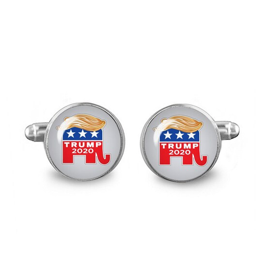 Donald Trump 16mm Cuff links make America great again Cuff links Gift for Men Groomsmen Novelty Cuff links Handmade in USA