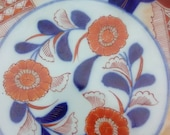 Antique Japanese Imari Taisho Era Asian Porcelain Hand Painted Charger Plate