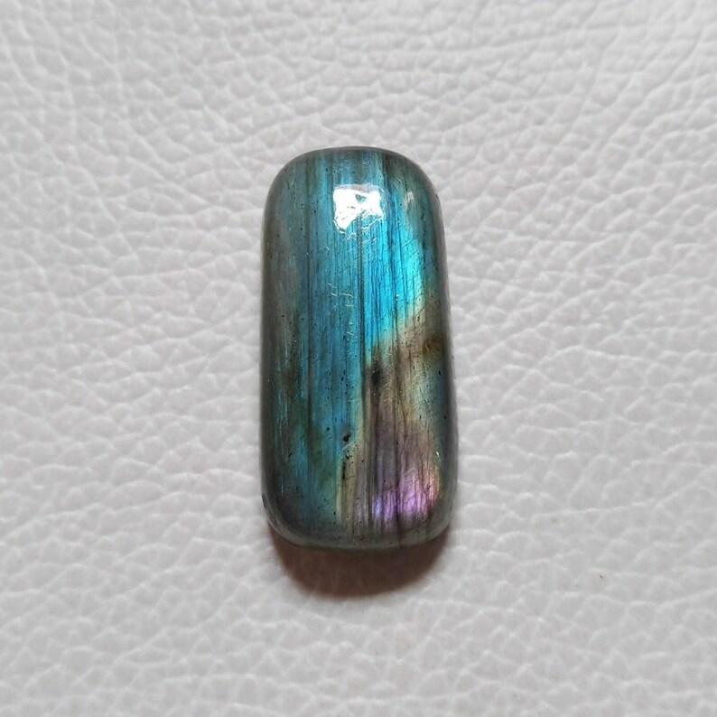 Amazing Blue Labradorite Gemstone 30X14X7 mm Rectangular Labradorite Wire Wrap Jewelry Labradorite Cabochon N18L