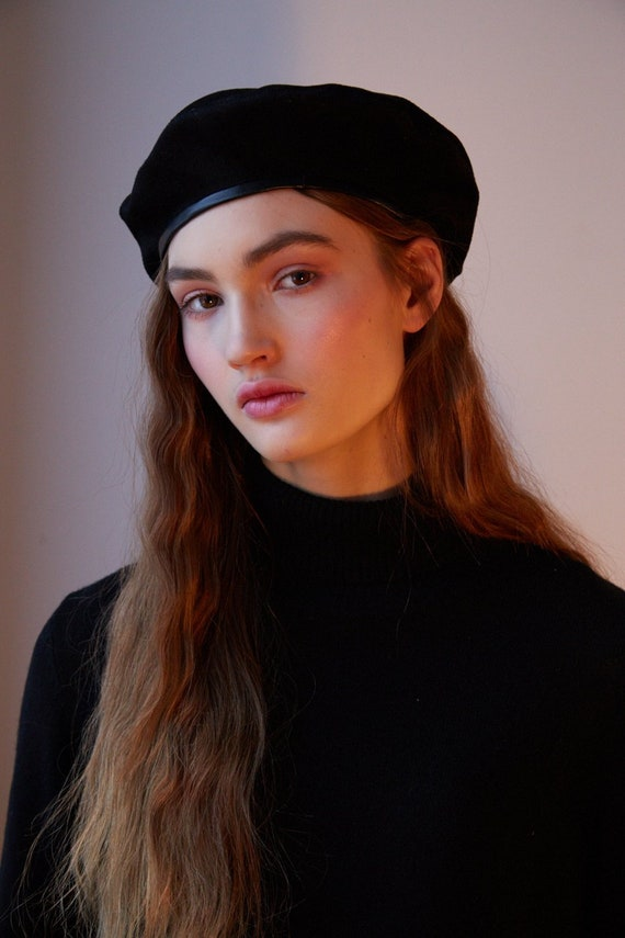 Wool beret hat french beret  07efa7264e2