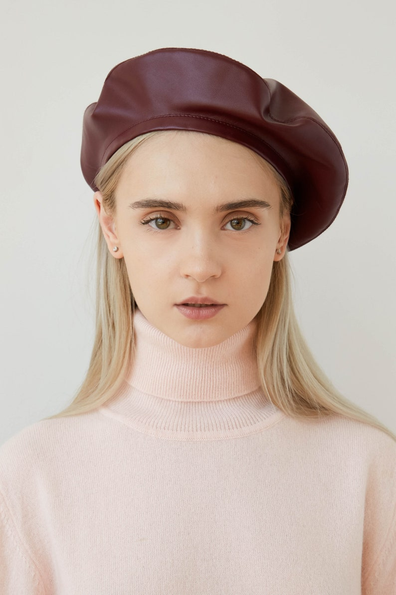 03efa8c825 Military hat beret red beret french beret raspberry beret