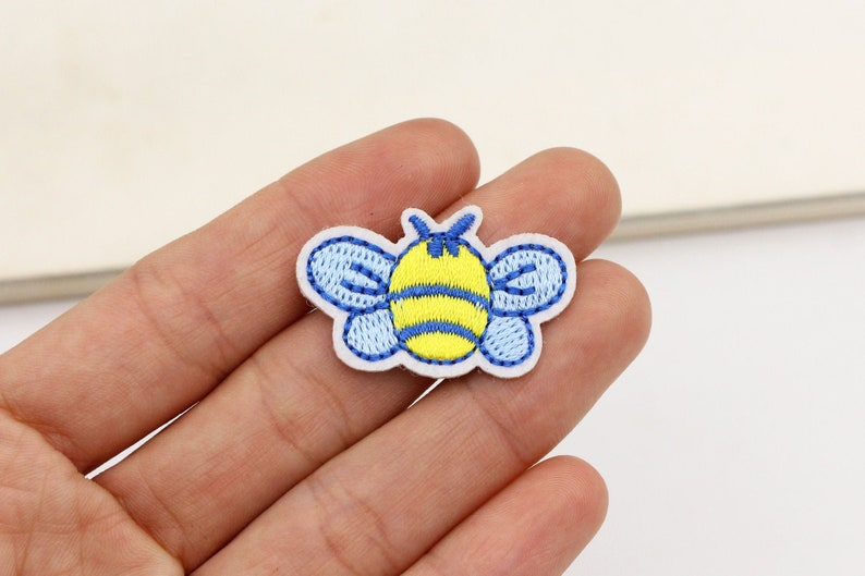 1-2-10pcs Little Bee Patch cute patches Bag Patch embroidered patch DIY Jacket decorative hair bag accessory supply