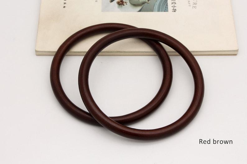 handbag handles round wood handle bag making supplies 5.5 in 1pair wooden handle bag handle 14cm