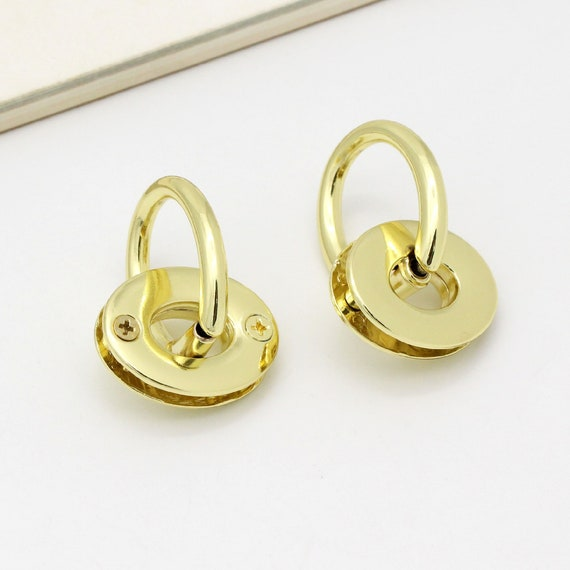 2-4pcs Gold Purse Handle with bridge buckle Metal Bag Handle bag chain connector purse frame