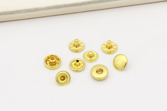 20set 10mm 12.5mm 15mm Snap Fasteners Rivets Studs Snap Button Press Stud Leather Craft Closure Fasteners