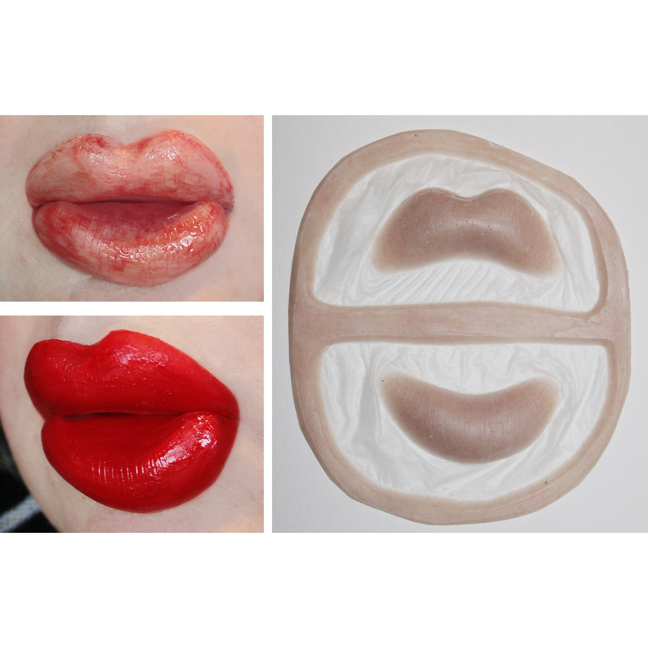 2 sets of Unpainted Silicone Prosthetic Lips.