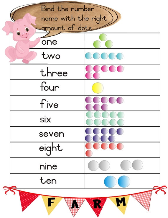 Farm Animal Themed Number Worksheets To Make Learning And Number Recognition Fun And Easy Instant Download